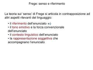 Frege: senso e riferimento