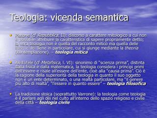 Teologia: vicenda semantica