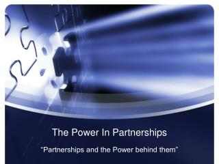 The Power In Partnerships