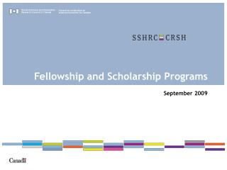 Fellowship and Scholarship Programs September 2009