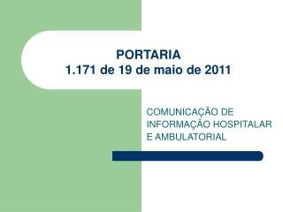 PORTARIA 1.171 de 19 de maio de 2011