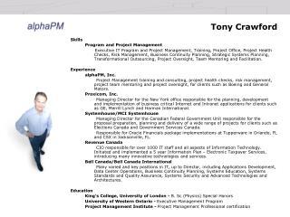 Tony Crawford
