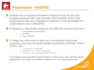 Présentation : KEOPSS