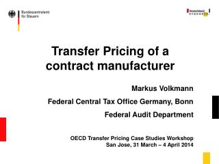 Transfer Pricing of a contract manufacturer