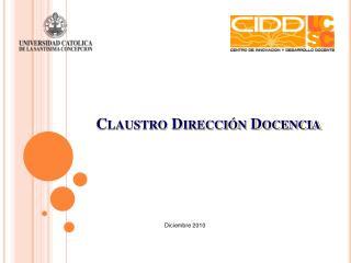Claustro Dirección Docencia