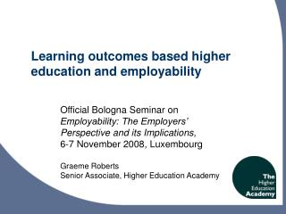 Learning outcomes based higher education and employability
