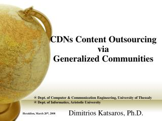 CDNs Content Outsourcing  via  Generalized Communities
