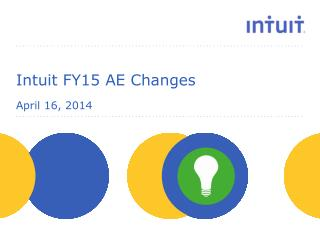 Intuit FY15 AE Changes