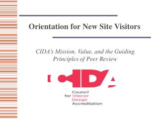 Orientation for New Site Visitors