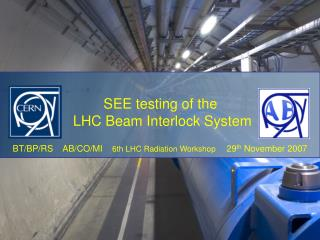Testing the Beam Interlock System