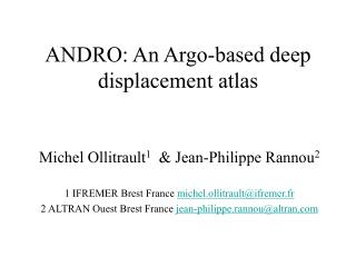 ANDRO: An Argo-based deep displacement atlas