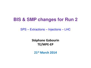 St�phane  Gabourin TE/MPE-EP 21 st  March 2014