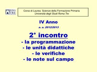 Corso di Laurea  Scienze della Formazione Primaria Università degli Studi Roma Tre