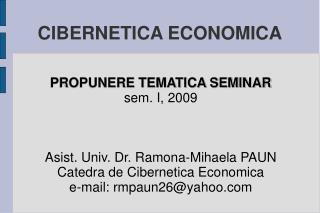 CIBERNETICA ECONOMICA