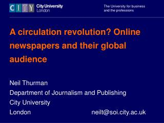 A circulation revolution? Online newspapers and their global audience