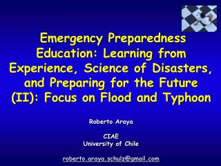Empirical Study of the Curriculum Math Modeling of Floods