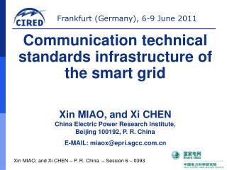 Xin MIAO, and Xi CHEN � P. R. China  � Session 6 � 0393