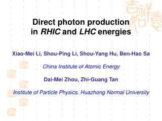 Direct photon production  in  RHIC  and  LHC  energies