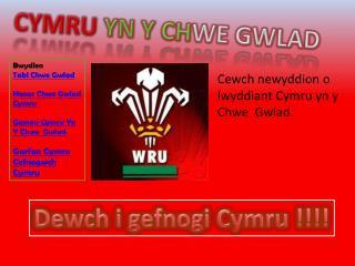 Cymru yn  y  ch we Gwlad