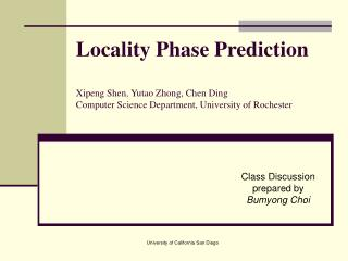 Class Discussion  prepared by Bumyong Choi