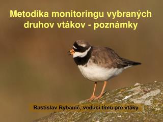 Metodika monitoringu vybraných druhov vtákov - poznámky