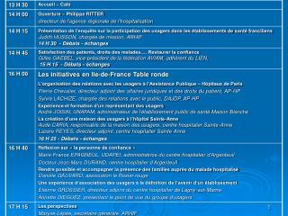 OUVERTURE MONSIEUR RITTER directeur de l'agence régionale de l'hospitalisation