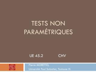 Tests NON param�triques