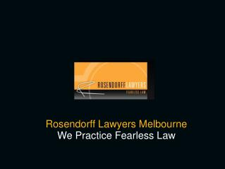 Rosendorff Lawyers - Corporate & Commercial Law Firm