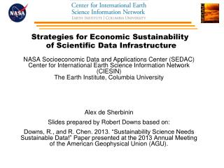 Strategies for Economic Sustainability  of Scientific Data Infrastructure