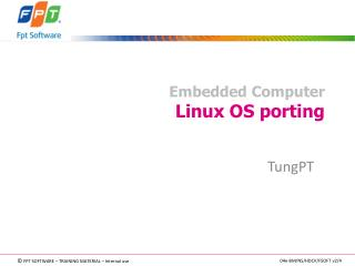 Embedded Computer Linux OS porting