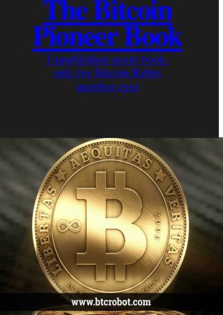 Unpublished secret book, only for Bitcoin Robot member eyes