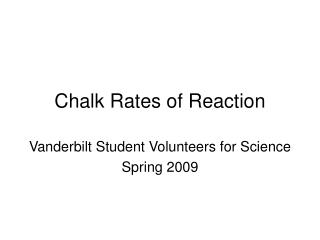 Chalk Rates of Reaction