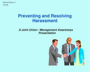 Preventing and Resolving Harassment