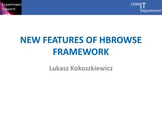 New features of  hbrowse  framework