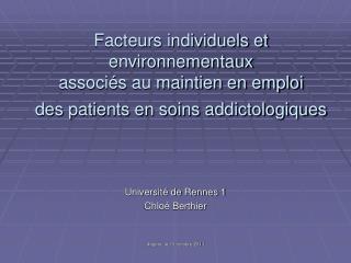 Université de Rennes 1 Chloé Berthier