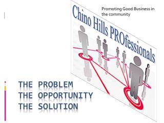 The Problem The Opportunity The Solution