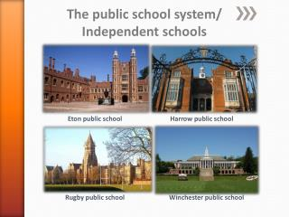 The public  school  system/ Independent  schools