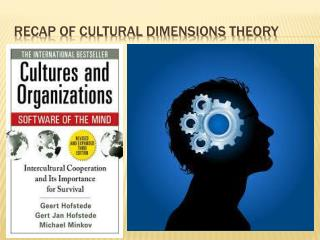 Recap of cultural dimensions theory