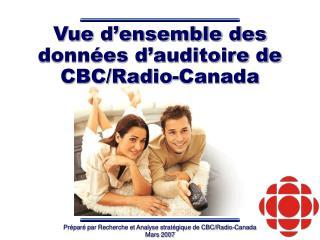 Vue d�ensemble des  donn�es d�auditoire de CBC/Radio-Canada