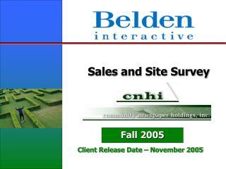 Sales and Site Survey