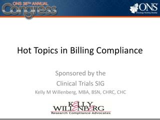 Hot Topics in Billing Compliance