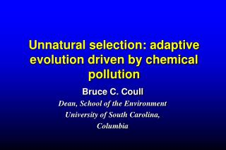 Unnatural selection: adaptive evolution driven by chemical pollution