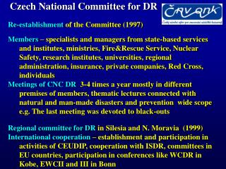 Czech National Committee for DR