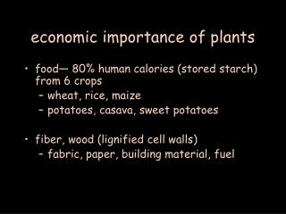 economic importance of plants