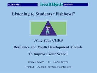 Using Your CHKS  Resilience and Youth Development Module To Improve Your School