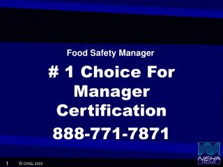 # 1 Choice For Manager Certification 888-771-7871