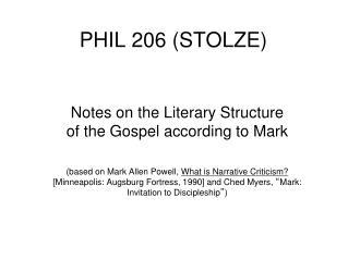 PHIL 206 (STOLZE)