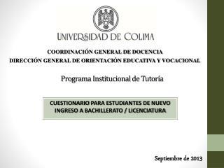 Programa Institucional de Tutor�a