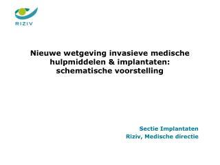 Nieuwe wetgeving invasieve medische hulpmiddelen &  implantaten:    schematische voorstelling