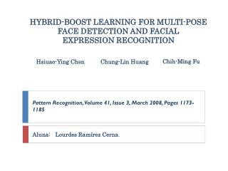 HYBRID-BOOST LEARNING FOR MULTI-POSE FACE DETECTION AND FACIAL EXPRESSION RECOGNITION